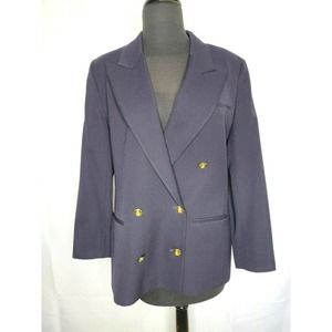 AUSTIN REED Vintage Wool Double Breasted Blazer